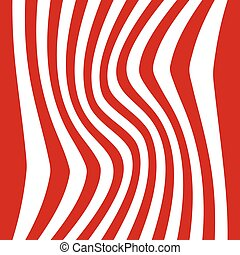 Striped abstract background. red and white zebra print. Vector illustration. eps10