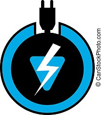 electric icon - Creative design of electric icon