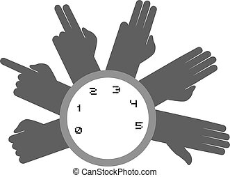 hands counting symbol - Creative design of hands counting...