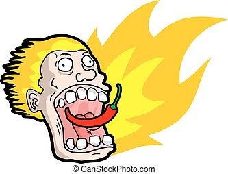 spicy chilli illustration - Creative design of spicy chilli...