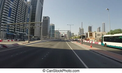 Driving On Highway, Abu Dhabi, UAE