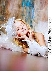 little princess - Art portrait of a pretty little girl...