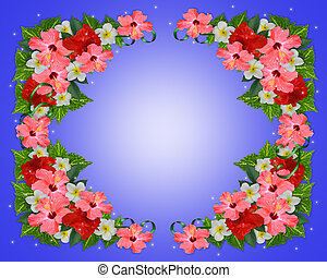 Tropical Flowers background - Image and illustration...