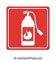extinguisher signal silhouette icon graphic isolated vector