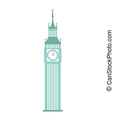 london big ben icon graphic isolated vector
