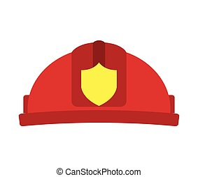 helmet red firefighter icon