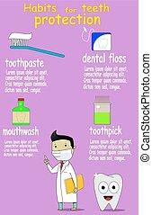Dental care and health, kids, vector illustration - Dental...