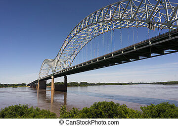 Hernando de Soto Bridge Spanning Mississippi River Arkansas...