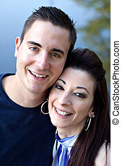 Happy Young Couple - A happy young couple in their mid 20s...