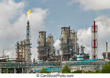 Oil refinery building industry