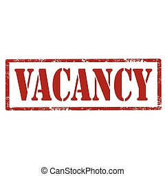 Vacancy-red stamp - Grunge rubber stamp with text...