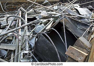 Scrap Metal - Scrap metal rusting away in a junk yard