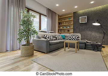 Your own wonderland - Shot of a comfortable living room...