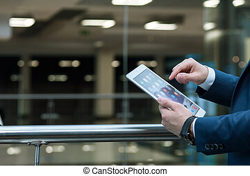 Technology in nowadays business - Close shot of an elegant...