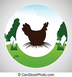 farm countryside animal hen design - farm countryside animal...