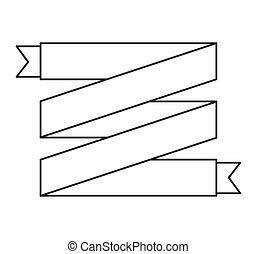 frame monochrome elegant icon