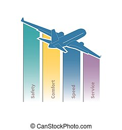 Air travel infographic. Vector illustration.