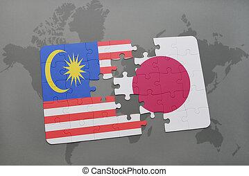 Quebra-cabeça, com, a, nacional, bandeira, de,...