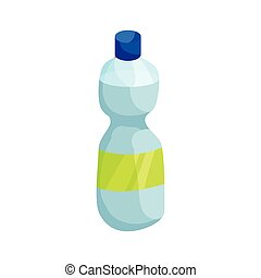 Water bottle icon, cartoon style