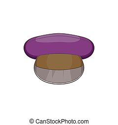 Cap icon, cartoon style - Cap icon in cartoon style isolated...