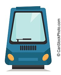 Modern high speed train vector illustration - Front or rear...
