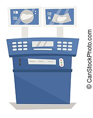 Medical ultrasound equipment vector illustration - Medical...