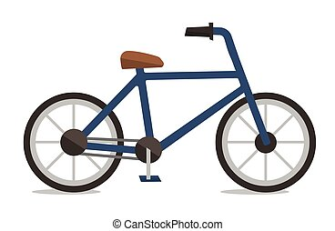 Side view of classic bicycle vector illustration.
