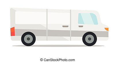 Commercial delivery truck vector illustration - Commercial...
