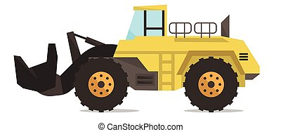 Large yellow dredge vector illustration - Large yellow...