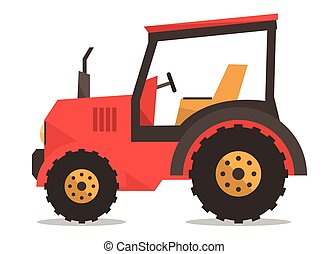 Tractor vector illustration - Tractor Classic agricultural...