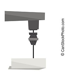 Industrial milling tool vector illustration - Industrial...