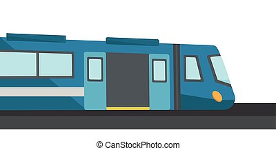 Modern high speed train vector illustration - Modern high...