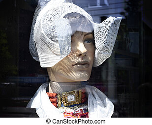 Mannequin with traditional clothing of the Netherlands.