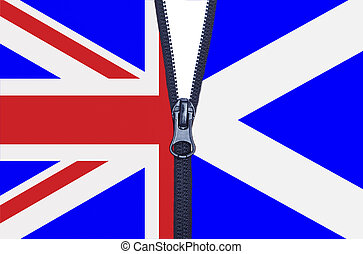 Scotland Referendum Zipper - Zipped Scotland and United...