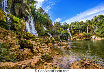 Kravice waterfall in Bosnia and Herzegovina - nature travel...