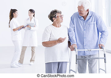 They are young at heart - Shot of a senior woman talking to...