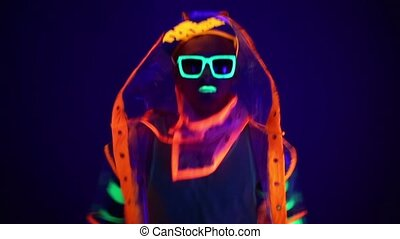 The man in the neon costume HD