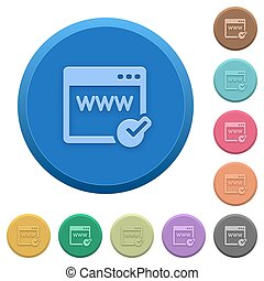 Embossed domain registration buttons - Set of round color...