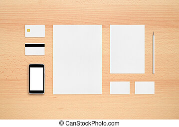 Template for branding identity - smartphone, business cards,...