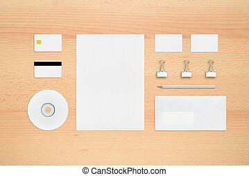 Template for corporate identity - letterhead, business...