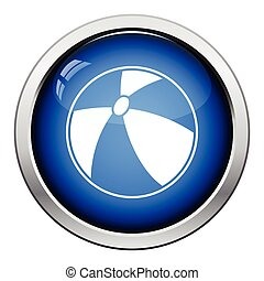 Baby rubber ball icon