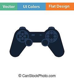 Gamepad  icon. Flat color design. Vector illustration.