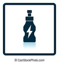 Icon of Energy drinks bottle Shadow reflection design Vector...