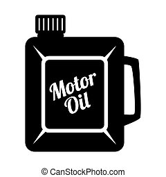 Motor oil can icon vector illustration - Motor oil can black...