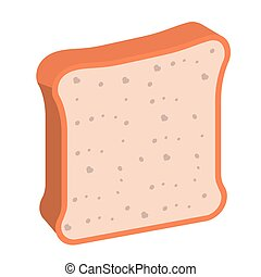 bread loaf isolated icon design