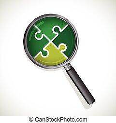 magnifying glass jigsaw