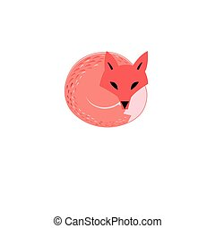 Graphic sign of a red fox