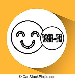 Wifi technology app isolated, vector illustration eps10