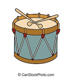 Drum kit toy icon vector illustration - Drum kit toy...