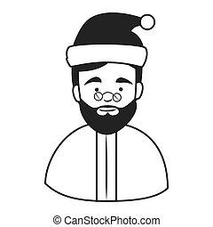 Old man santa claus hat icon - Old man santa claus hat ,...